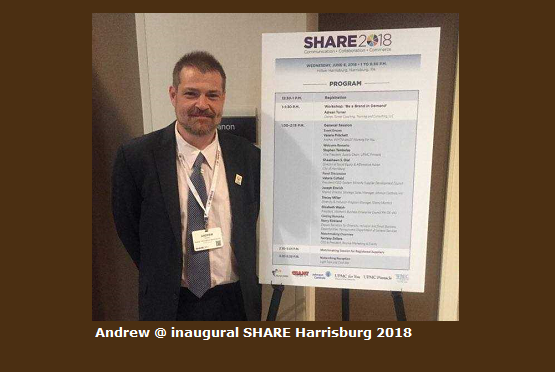 Andrew at inaugural SHARE Harrisburg 2018 event