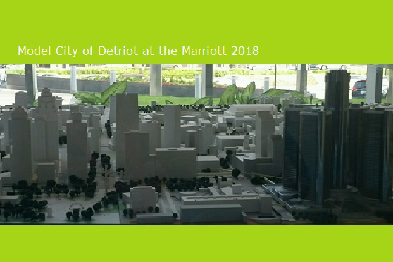 Miniture model of Detroit